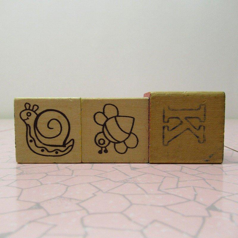 アルファベットブロック 木製 HUG【画像7】