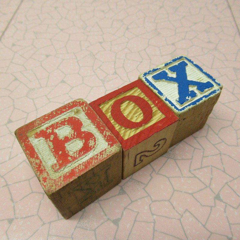 アルファベットブロック 木製 BOX