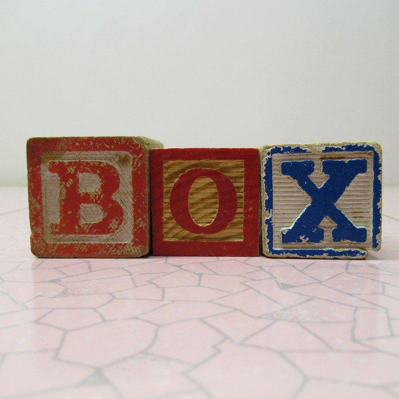 アルファベットブロック 木製 BOX【画像2】