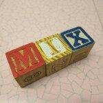 アルファベットブロック 木製 MIX