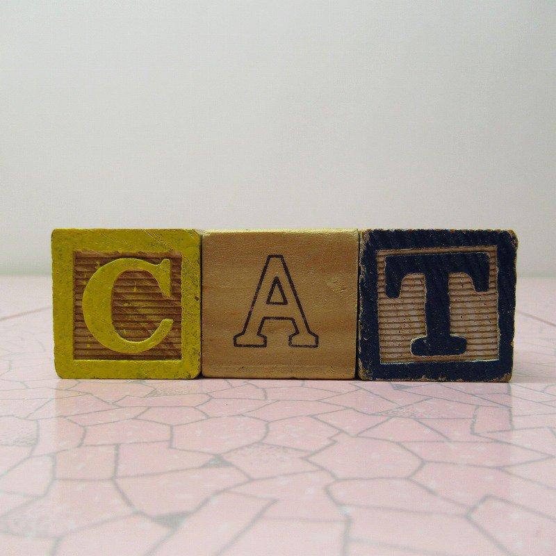 アルファベットブロック 木製 CAT【画像2】