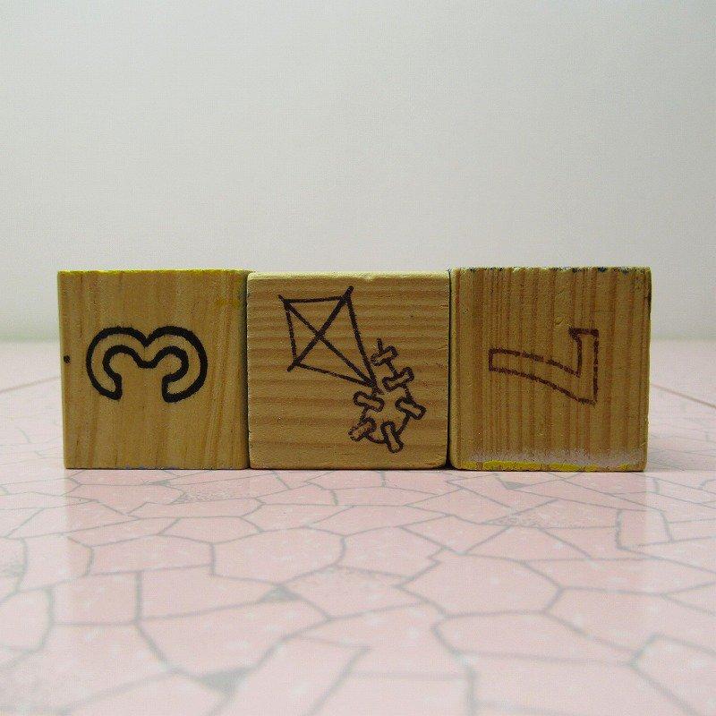 アルファベットブロック 木製 CAT【画像3】