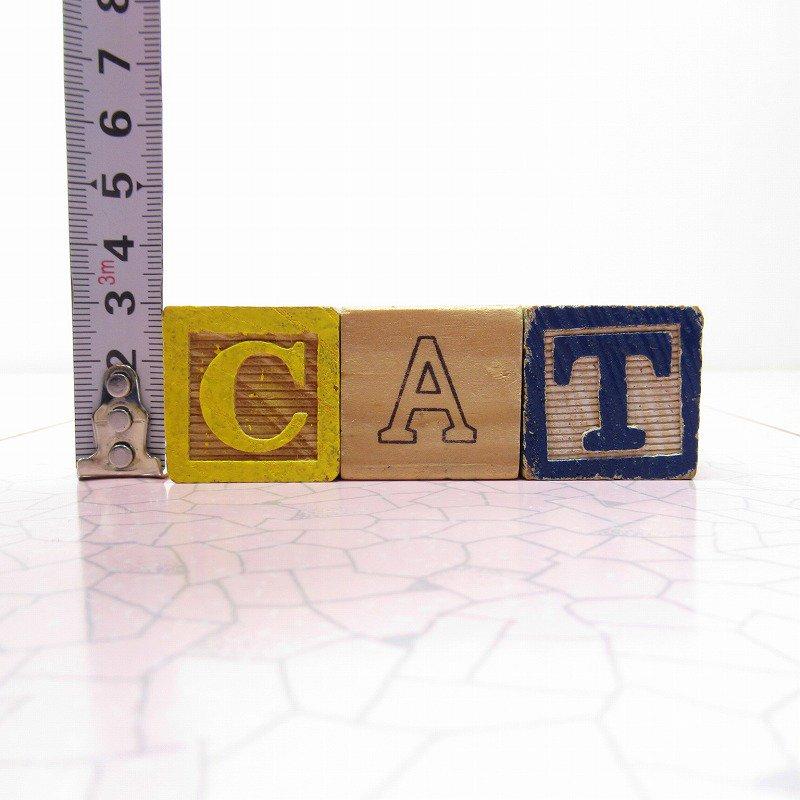 アルファベットブロック 木製 CAT【画像8】