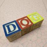 アルファベットブロック 木製 DOG