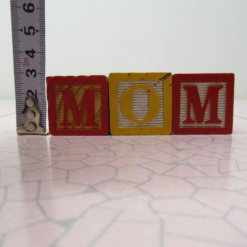 アルファベットブロック 木製 MOM【画像7】
