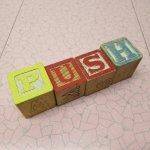 トランプ・パズル・ゲーム・塗り絵・ステンシルなど  アルファベットブロック 木製 PUSH