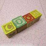 トランプ・パズル・ゲーム・塗り絵・ステンシルなど  アルファベットブロック 木製 COOK