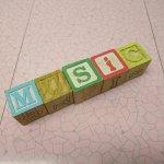 トランプ・パズル・ゲーム・塗り絵・ステンシルなど  アルファベットブロック 木製 MUSIC【B】