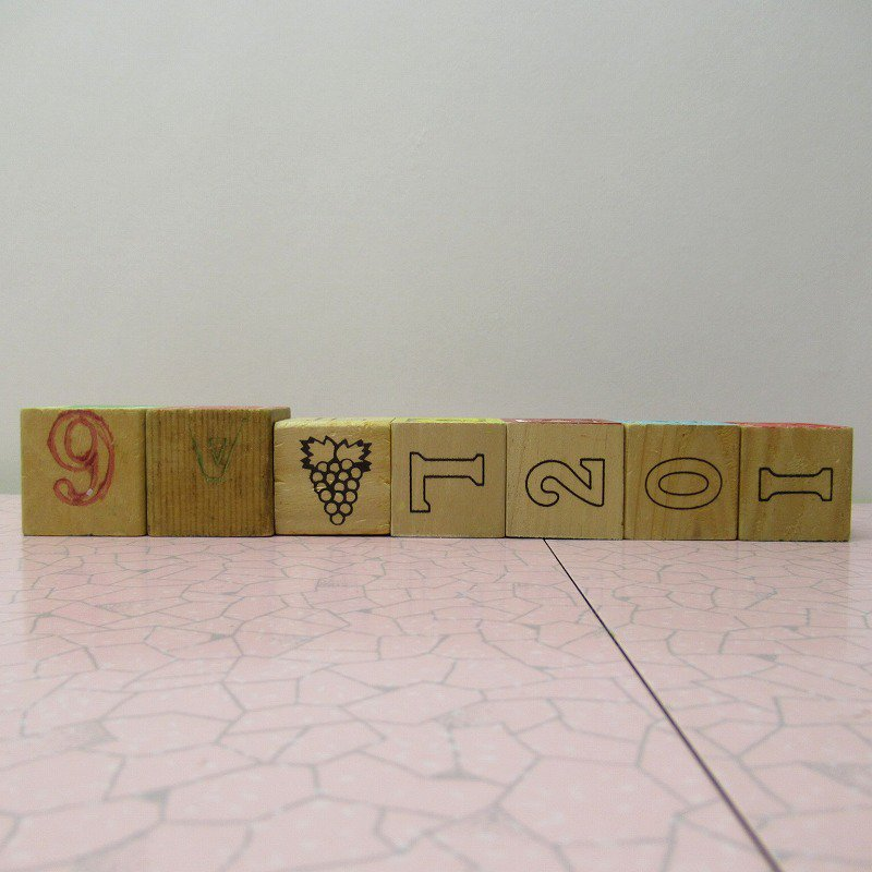 アルファベットブロック 木製 WELCOME【画像3】