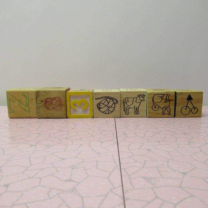 アルファベットブロック 木製 WELCOME【画像6】