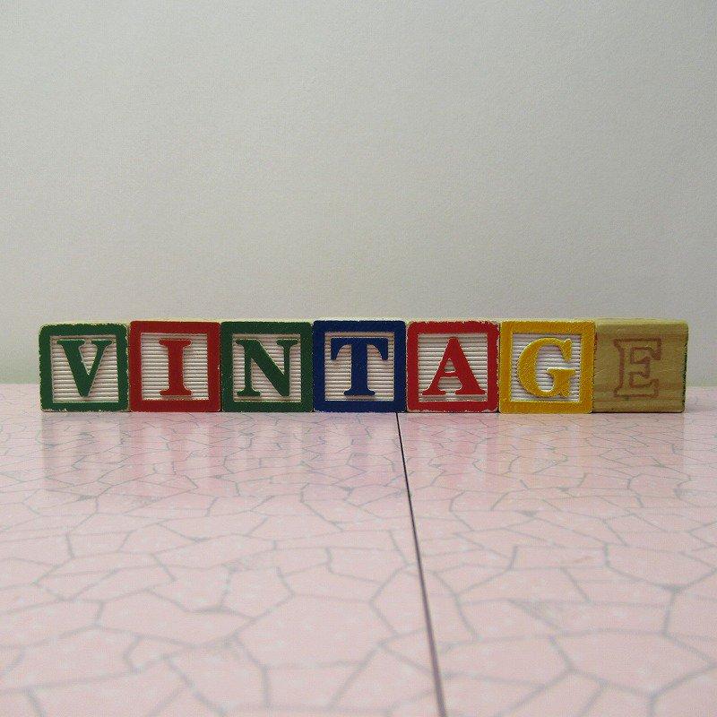 アルファベットブロック 木製 VINTAGE【画像2】