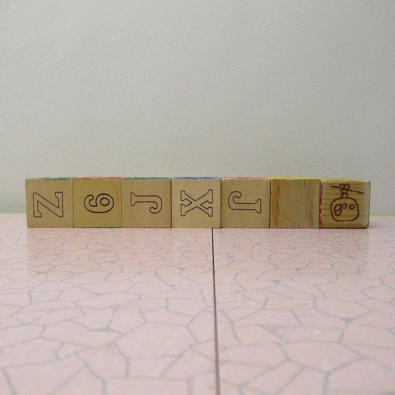 アルファベットブロック 木製 VINTAGE【画像3】