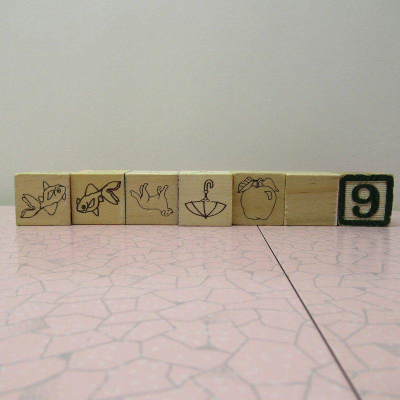 アルファベットブロック 木製 VINTAGE【画像7】