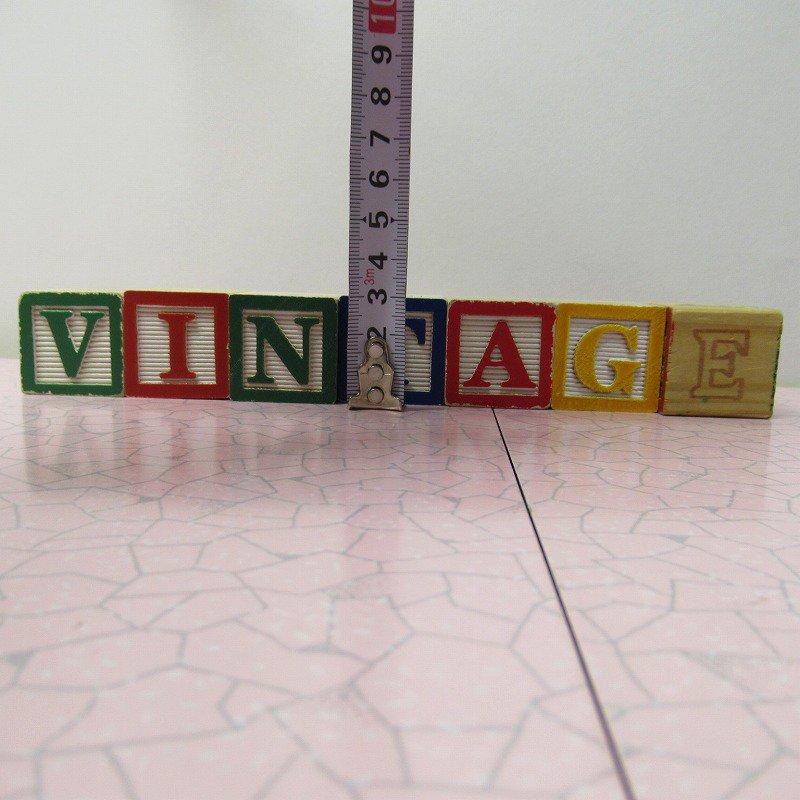 アルファベットブロック 木製 VINTAGE【画像8】