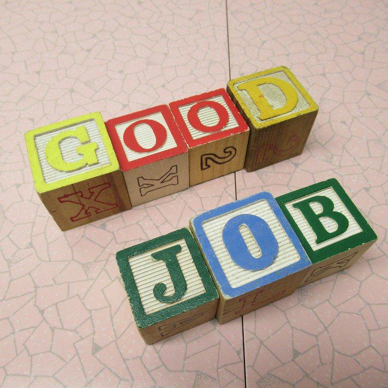 アルファベットブロック 木製 GOOD JOB