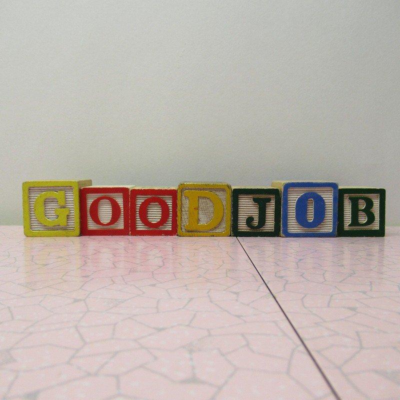 アルファベットブロック 木製 GOOD JOB【画像2】