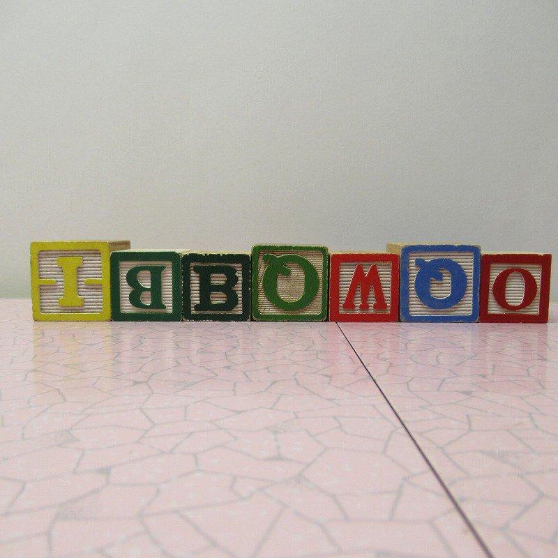 アルファベットブロック 木製 GOOD JOB【画像4】