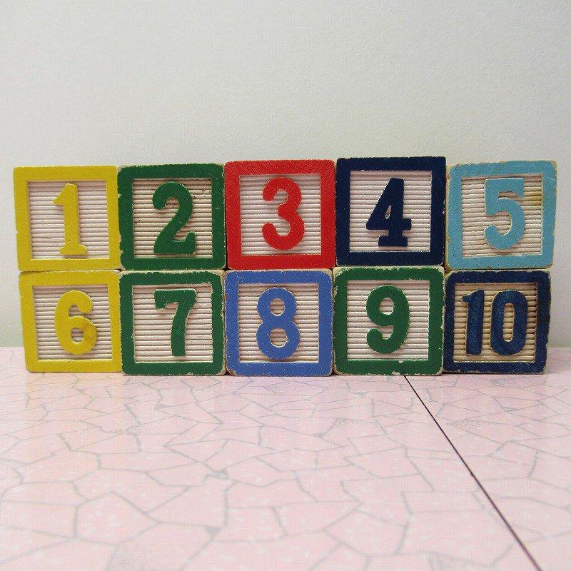 アルファベットブロック 木製 数字セット【A】