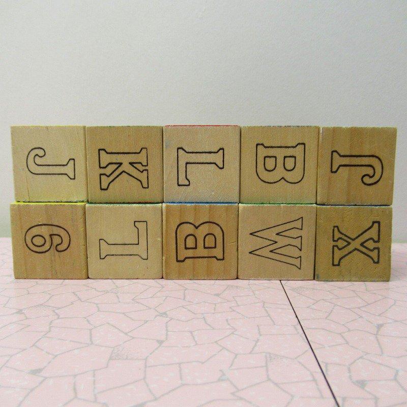 アルファベットブロック 木製 数字セット【A】【画像2】