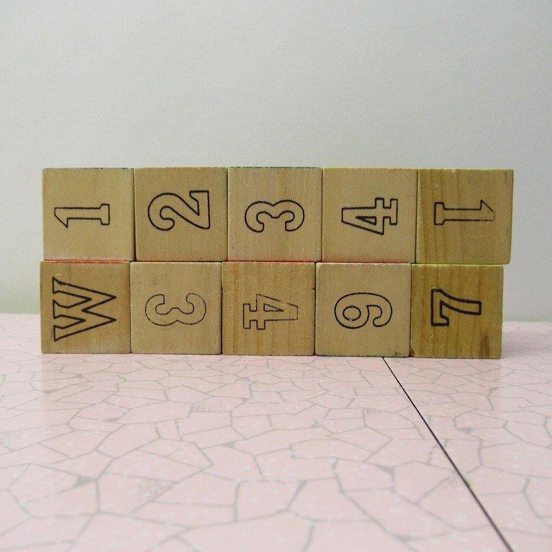 アルファベットブロック 木製 数字セット【A】【画像4】
