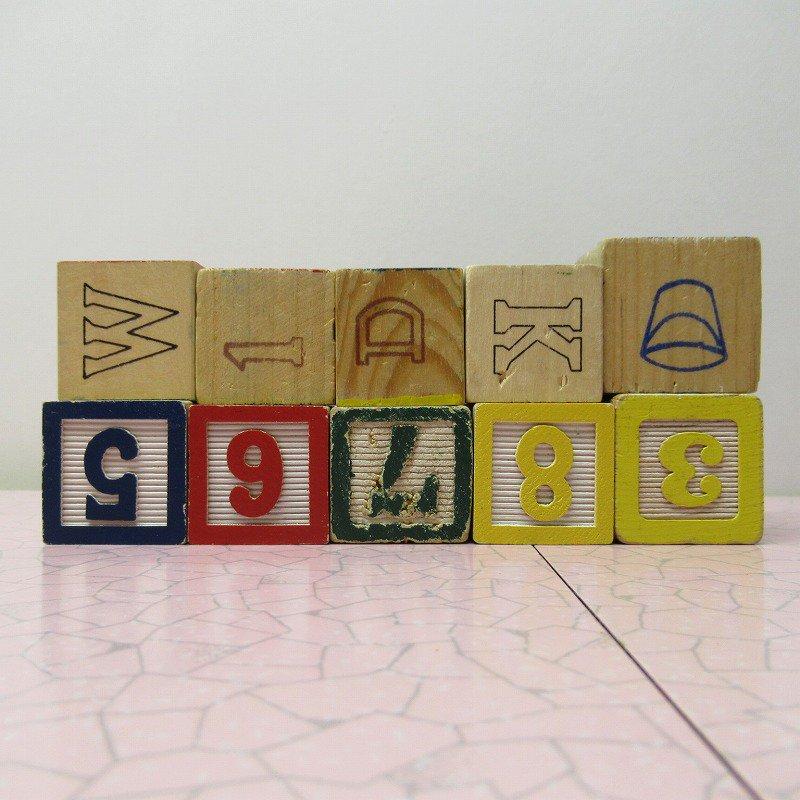 アルファベットブロック 木製 数字セット【C】【画像3】