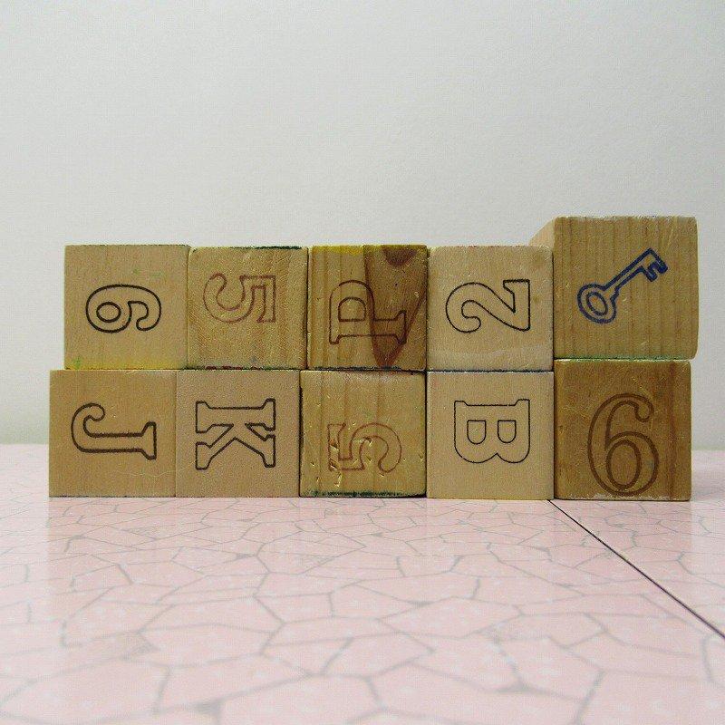 アルファベットブロック 木製 数字セット【C】【画像4】