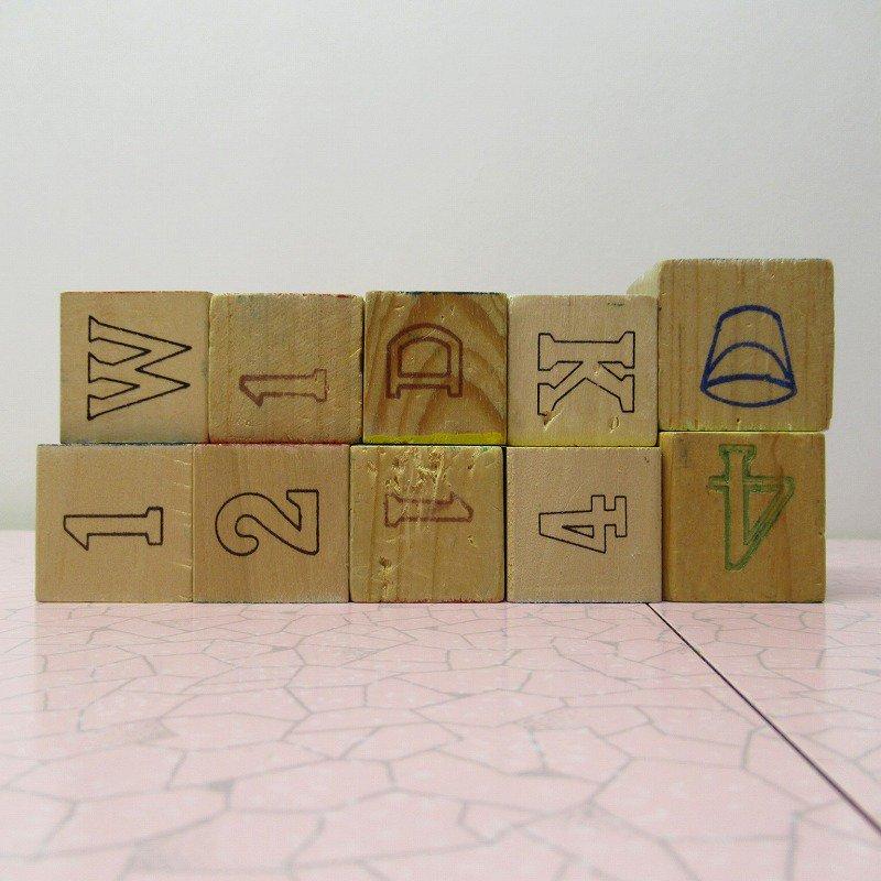 アルファベットブロック 木製 数字セット【C】【画像6】