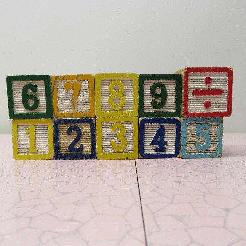 アルファベットブロック 木製 数字セット【E】