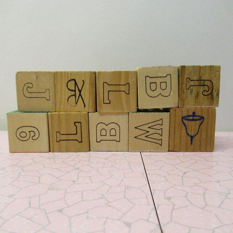 アルファベットブロック 木製 数字セット【E】【画像2】