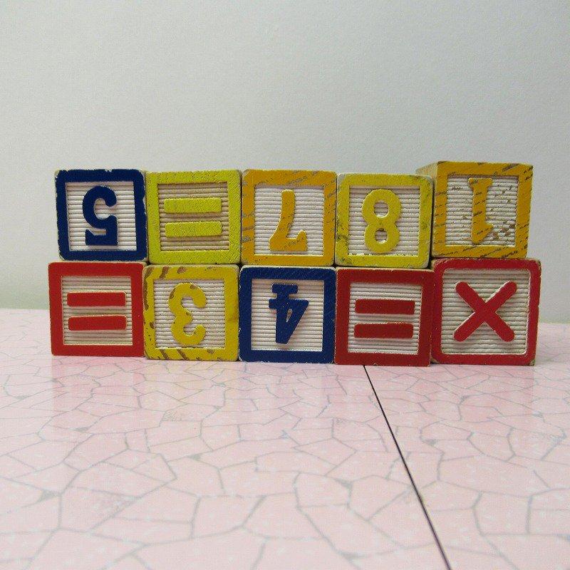 アルファベットブロック 木製 数字セット【E】【画像3】