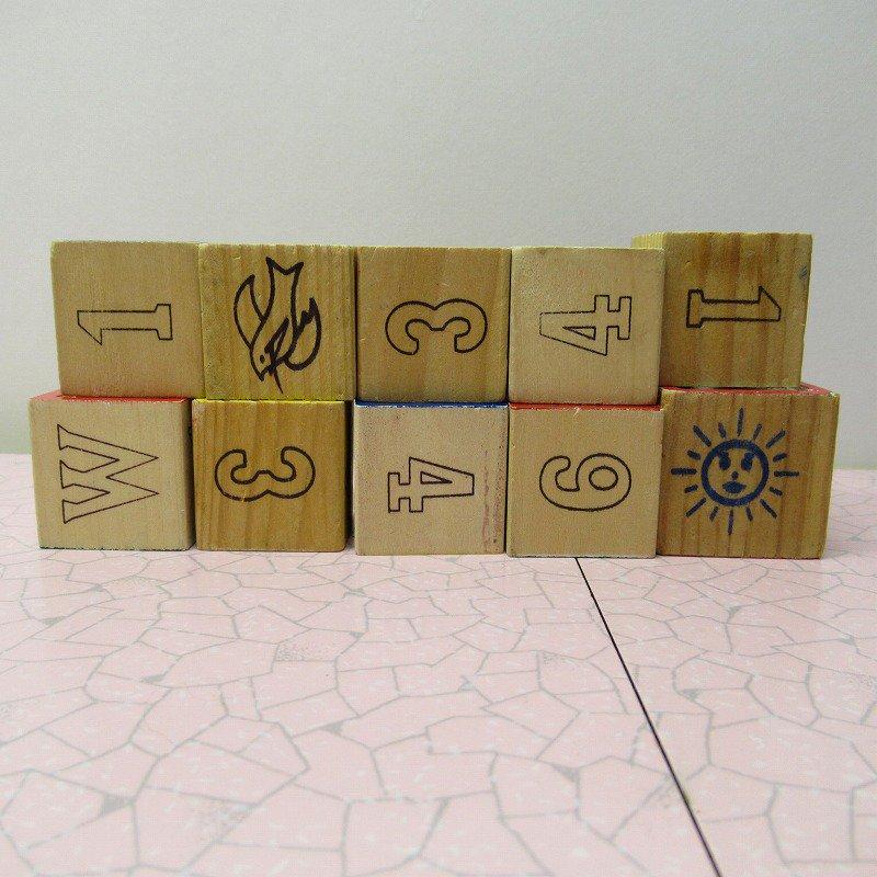 アルファベットブロック 木製 数字セット【E】【画像4】