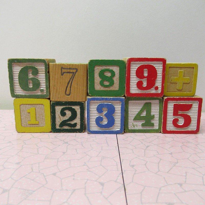アルファベットブロック 木製 数字セット【F】