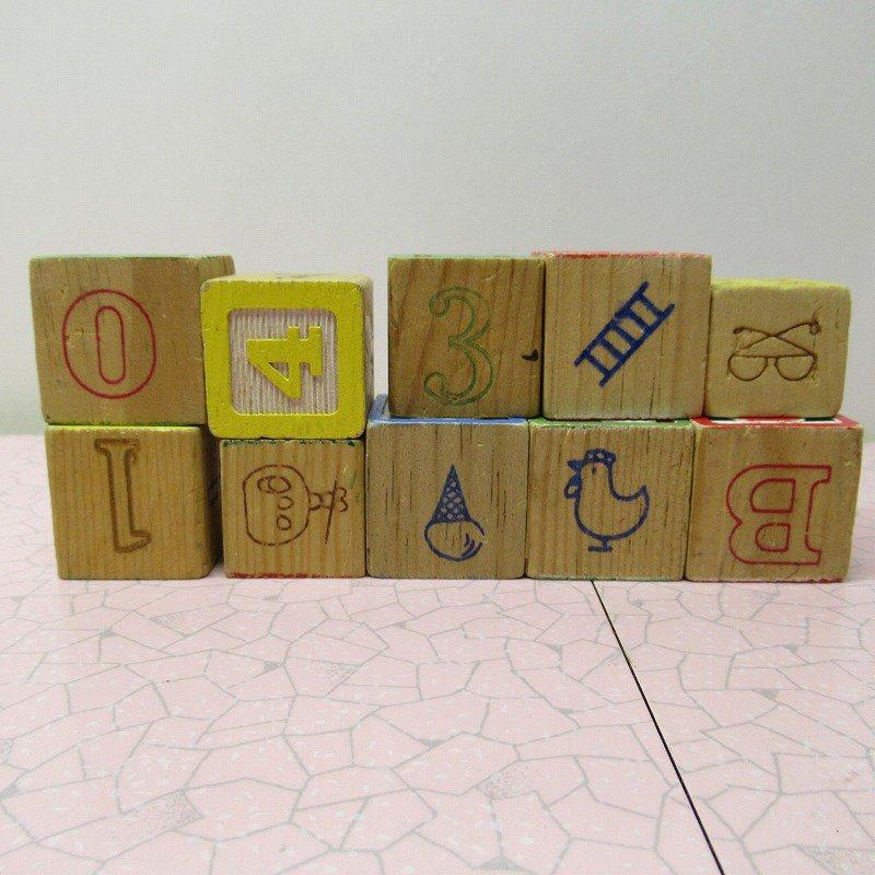 アルファベットブロック 木製 数字セット【F】【画像2】