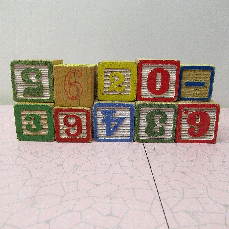 アルファベットブロック 木製 数字セット【F】【画像3】