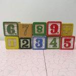ヴィンテージ雑貨  アルファベットブロック 木製 数字セット【F】