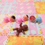 ベビーシャワー ナーサリー 4ピース デコレーションセット【セットU】