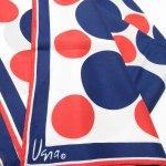 レディス  ヴィンテージスカーフ VERA 青X赤 水玉 正方形