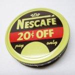 パッケージ&パッケージに味のある雑貨&チーズボックスなど  ジャンク雑貨 ネスカフェ メタル製 コーヒー蓋