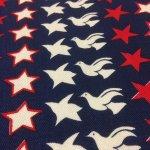 その他  ヴィンテージファブリック 鳥と星