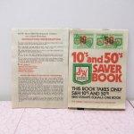 スタンプブック  スタンプブック 紙モノ雑貨 スタンプ付き クイックセーバーブック 10's & 50's