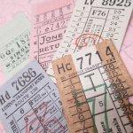チケット、スコアパッドなどの紙物・紙モノ雑貨  バスチケット イギリス 5枚セット E