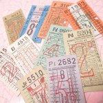 チケット、スコアパッドなどの紙物・紙モノ雑貨  バスチケット イギリス 10枚セット A