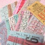 チケット、スコアパッドなどの紙物・紙モノ雑貨  バスチケット イギリス 10枚セット B