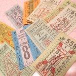 チケット、スコアパッドなどの紙物・紙モノ雑貨  バスチケット イギリス 10枚セット C