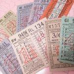 チケット、スコアパッドなどの紙物・紙モノ雑貨  バスチケット イギリス 10枚セット D