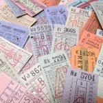 チケット、スコアパッドなどの紙物・紙モノ雑貨  バスチケット イギリス 26枚セット