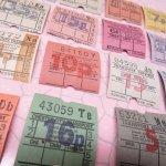 チケット、スコアパッドなどの紙物・紙モノ雑貨  バスチケット スクエア イギリス 16枚セット