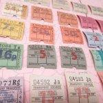 チケット、スコアパッドなどの紙物・紙モノ雑貨  バスチケット スクエア イギリス 30枚セット
