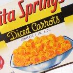 パッケージ&パッケージに味のある雑貨&チーズボックスなど  ラベルシート Diced Carrots缶 未使用パッケージ紙