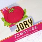 パッケージ&パッケージに味のある雑貨&チーズボックスなど  ラベルシート Jory Brand Tomatoes缶 未使用パッケージ紙